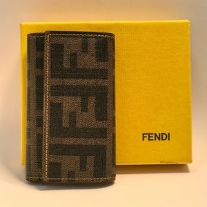 Authentic Fendi Mono PVC Key Holder Wallet
